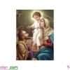 [T-LV3183] Tranh thêu chữ thập Chúa Gia (kích thước nhỏ 43x54cm)
