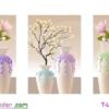[T-LV3209] Tranh thêu chữ thập Ngọc lan hồng (kích thước trung bình 123x59cm)