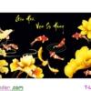 [T-LV3278] Tranh thêu chữ thập Gia Hòa Vạn Sự Hưng (kích thước trung bình 132x60cm)