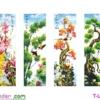 [T-LV3282] Tranh thêu chữ thập Mai Trúc Cúc Tùng (kích thước trung bình 121x75cm)