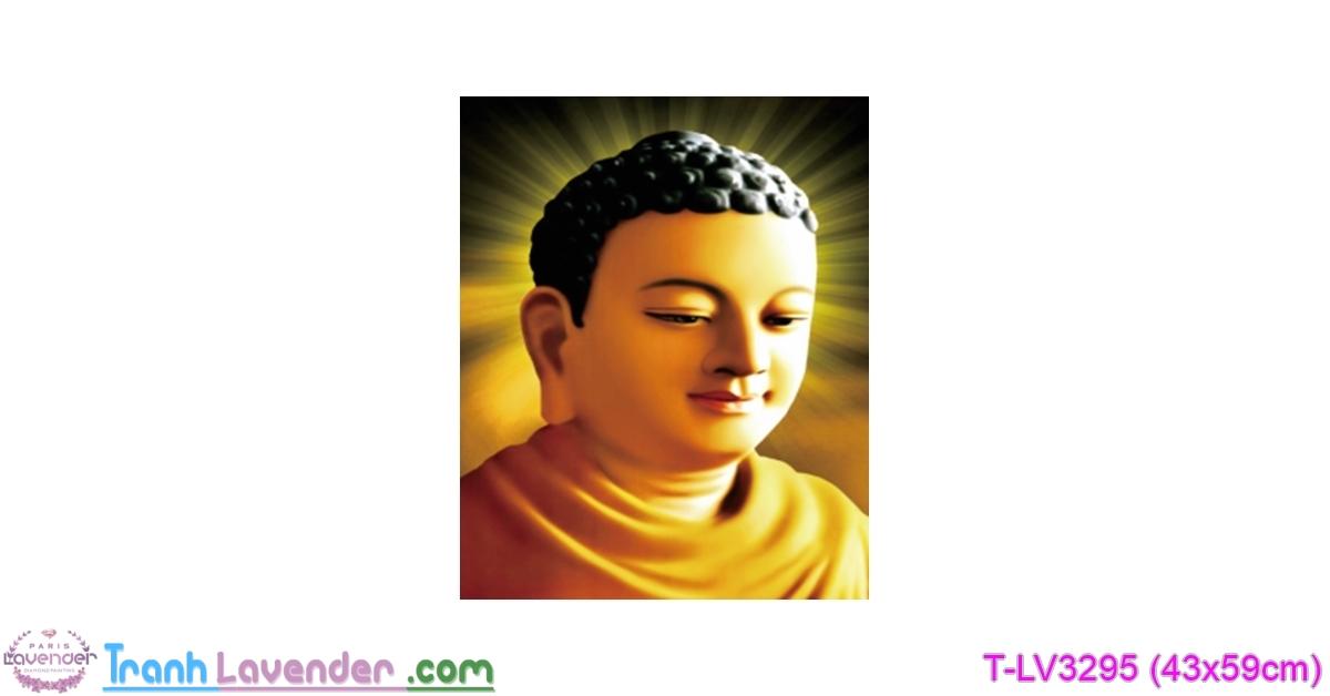 [T-LV3295] Tranh thêu chữ thập Phật Tổ Như Lai (kích thước nhỏ 43x59cm)