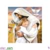 [T-LV3296] Tranh thêu chữ thập Tình yêu của Chúa (kích thước nhỏ 43x51cm)