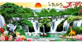 Tranh thêu chữ thập Lưu Thủy Sinh Tài ❤️ [T-LV3314]