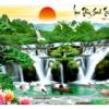 Tranh thêu chữ thập Lưu Thủy Sinh Tài ❤️ [T-LV3315]