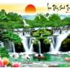 Tranh thêu chữ thập Lưu Thủy Sinh Tài ❤️ [T-LV3316]