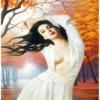 Tranh đính đá Thiếu nữ xinh đẹp