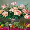 Tranh đính đá Bình hồng