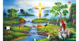 Tranh đính đá Chúa Jesu chăn cừu