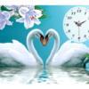 Tranh đính đá Tình yêu vĩnh cửu (đồng hồ)