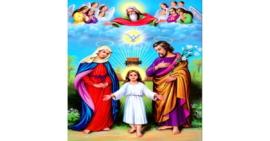 Tranh đính đá Thánh gia