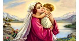 Tranh đính đá Tình yêu đức mẹ Maria