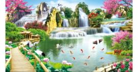 Tranh đính đá Bồng lai tiên cảnh