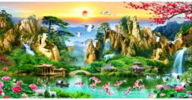 Tranh đính đá Lưu Thủy Sinh Tài