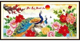 Tranh đính đá Phú Quý Bình An (khổ trung bình) ✅115x52 cm -️ VS056