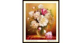 Tranh đính đá Bình hoa (khổ nhỏ) ✅50x60 cm -️ VS075