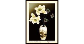 Tranh đính đá Bình hoa Sen (khổ nhỏ) ✅45x64 cm -️ VS077
