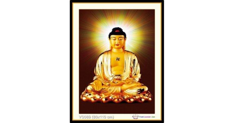 Tranh đính đá Phật Tổ Như Lai (khổ lớn) ✅80x110 cm -️ VS089