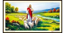 Tranh đính đá Chúa chăn cừu (khổ lớn) ✅141x75 cm -️ VS097