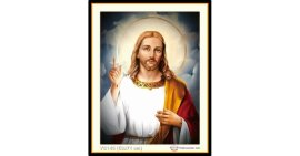 Tranh đính đá Đức thánh Chúa Jesu (khổ nhỏ) ✅71x53 cm -️ VS145
