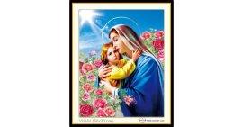 Tranh đính đá Tình yêu Đức mẹ Maria (khổ nhỏ) ✅70x55 cm -️ VS154