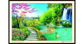 Tranh đính đá Thiên nhiên giao hòa (khổ trung bình) ✅97x60 cm -️ VS164
