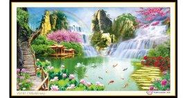 Tranh đính đá Thiên nhiên kỳ diệu (khổ lớn) ✅120x65 cm -️ VS191