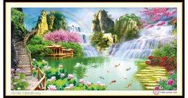 Tranh đính đá Thiên nhiên kỳ diệu (khổ lớn) ✅160x80 cm -️ VS192