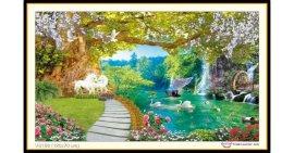 Tranh đính đá Thiên Nhiên Giao Hòa (khổ lớn) ✅120x70 cm -️ VS196
