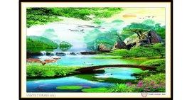 Tranh đính đá Non Nước Hữu Tình (khổ trung bình) ✅106x65 cm -️ VS212