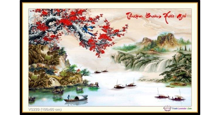 Tranh đính đá Thuận Buồm Xuôi Gió (khổ trung bình) ✅100x60 cm -️ VS229