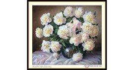 Tranh đính đá Hoa và sự kiêu hãnh (khổ nhỏ) ✅64x55 cm -️ VS274