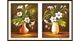 Tranh đính đá Hai Lọ Hoa (khổ trung bình) ✅95x61 cm -️ VS275