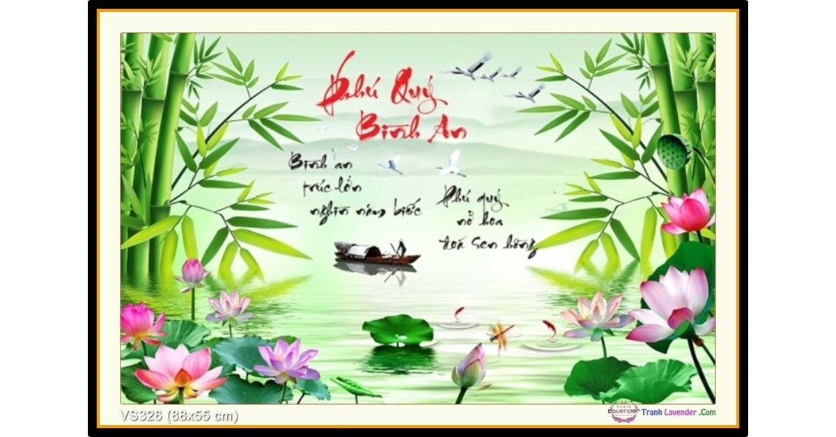 Tranh đính đá Phú Quý Bình An (khổ nhỏ) ✅88x55 cm -️ VS326