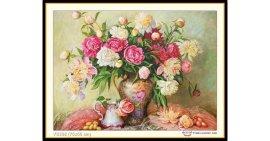Tranh đính đá Bình hoa cổ (khổ nhỏ) ✅75x55 cm -️ VS338