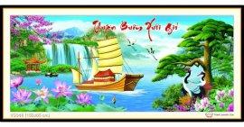 Tranh đính đá Thuận Buồm Xuôi Gió (khổ lớn) ✅150x65 cm -️ VS346