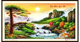 Tranh đính đá Thiên Nhiên Giao Hòa (khổ lớn) ✅120x60 cm -️ VS387