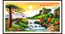Tranh đính đá Thiên Nhiên Giao Hòa (khổ lớn) ✅160x85 cm -️ VS388