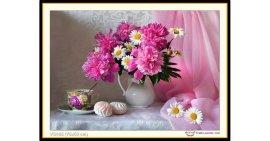 Tranh đính đá Bình hoa khoe sắc (khổ nhỏ) ✅75x53 cm -️ VS405