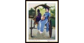 Tranh đính đá Thiếu nữ trên xe ngựa (khổ nhỏ) ✅0x0 cm -️ VS419