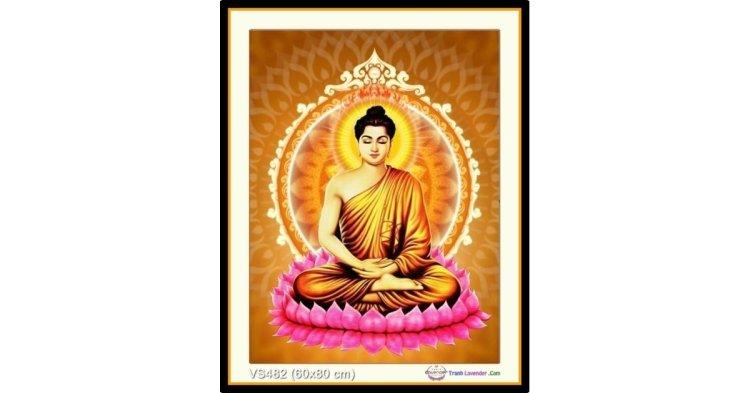 Tranh đính đá Phật Thích Ca Mâu Ni (khổ nhỏ) ✅80x60 cm -️ VS482