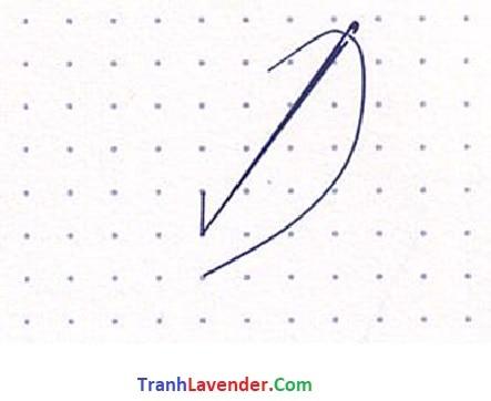 Hướng dẫn thêu Back Stitch tranh chữ thập