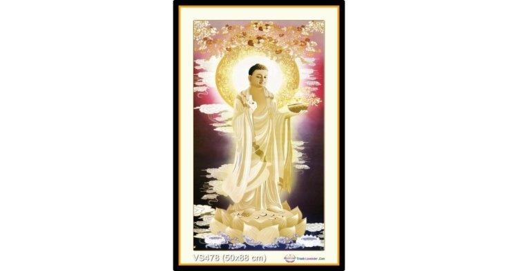 Tranh đính đá Đức Phật Dược Sư (khổ nhỏ) ✅50x88 cm -️ VS478
