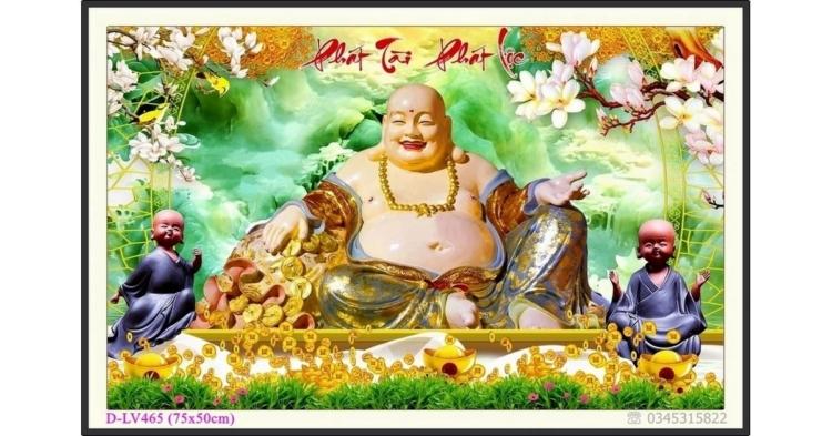 Tranh đính đá Phật Di Lặc - Phát Tài Phát Lộc - D-LV465 ❤️