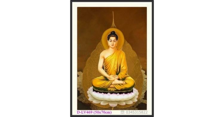 Tranh đính đá Phật Tổ - Đức Phật Thích Ca Mâu Ni - D-LV469 ❤️