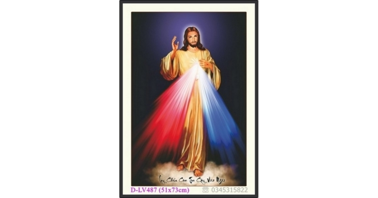 Tranh đính đá Đức Chúa JESUS (Giê Su) - D-LV487 ❤️
