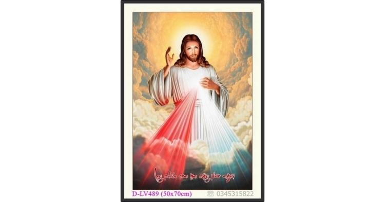 Tranh đính đá Đức Chúa JESUS (Giê Su) - D-LV489 ❤️
