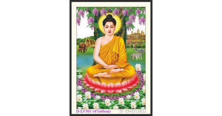 Tranh đính đá Phật Tổ - Đức Phật Thích Ca Mâu Ni - D-LV501 ❤️