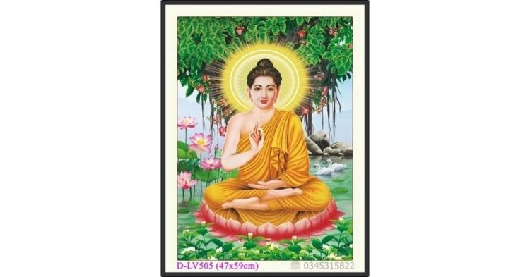 Tranh đính đá Đức Phật dưới gốc Bồ Đề - D-LV505 ❤️