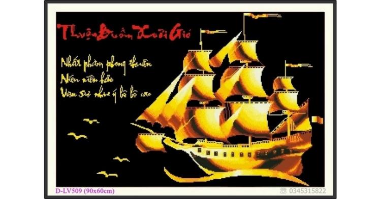 Tranh đính đá Thuận Buồm Xuôi Gió - D-LV509 ❤️