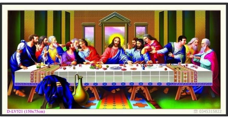 Tranh đính đá Bữa Tiệc Ly (Bữa ăn tối cuối cùng của Chúa) - D-LV521 ❤️